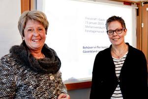 Agneta Påhlin och Karin Svärd Hertel är båda egna företagare som jobbar med att uppmuntra fler  kvinnor att ta steget till att bli sin egen.