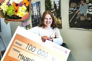 Magdalena Nordin får årets Sparbanksstiftelsen Norrlands konstnärsstipendium.