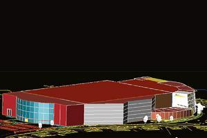 Tuppz-Topefa AB:s förslag på bandyhall som även inkluderar bostäder och kontor.