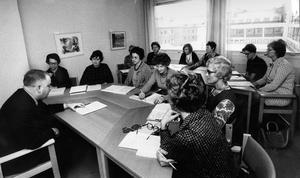Hemmafruar på kurs 1970.