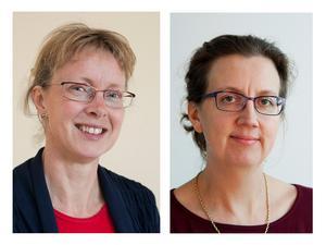 Lotta Berg (till vänster) och Helena Wall är både professorer vid SLU.