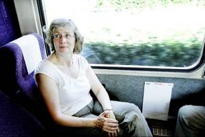 Av Inlandsbanans resenärer är 80-90 procent nya varje år. En av de som aldrig rest med Inlandsbanan förut är Helene Olander-Andersson från Stockholm, som klev på tåget i Östersund på onsdagseftermiddagen.