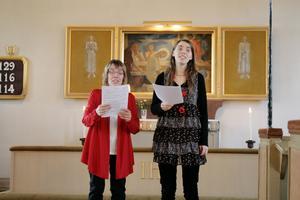 Majt och Angelica Bengts bjöd på vacker sång.