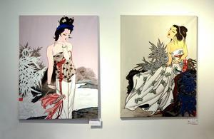 Den traditionella kinesiska konsten möter den moderna hos Peng Xiu Juan.