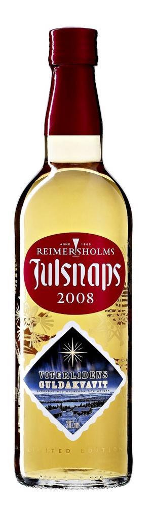 Nytt recept. Årets julsnaps från Reimersholm har adderat lite hjortron- och whiskytoner till de traditionella julkryddorna.