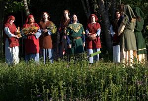 Delar av Arnljot-ensemblen planerar att vandra till Stiklestad nästa sommar.  Foto: Håkan LUthman