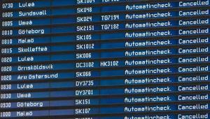 Alla fredagsmorgonens inrikesflygningar är inställda på Arlanda.