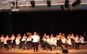Skellefteå Symphonic Band ger konsert.