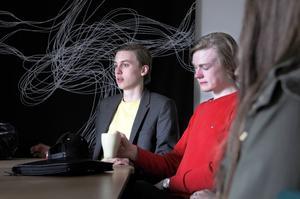 Olle Björkebaum och Daniel Lidström ska jobba med att inventera butiker och restauranger för att dokumentera om de är handikappanpassade.