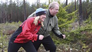 Carina Sándor och Anders Jansson tränade tillsammans under inspelningen av programmet.