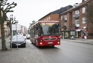 På väg bort. Nobina föreslår att buss 783 endast ska trafikera sträckan Södertälje-Ösmo efter sommaren.