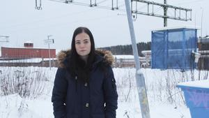Patricia Björkman tycker att det är en bra idé att snygga till och sätta upp mer lampor vid Norra station.
