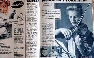 Tidningen Året runt berättade en Askungesaga om Elsie Börjes när hon som 14-åring spelade Beethovens violinkonsert i Stockholm. Foto: Birgit Nilses Gröndahl