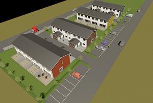 Mälarvillan planerar att bygga fyra huskroppar med vardera fyra radhus på ödetomten på Dalavägen med inflyttning 2019.