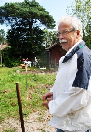 Här i Gammelsågen ska Jörgen Rystedt bygga sitt hus och han har sett till att han får kommunalt vatten i kranarna.