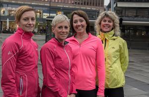 Anna Klanga, Sara Stenberg, Sara Persson och Annika Engström.