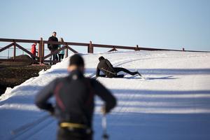 Vissa var ringrostiga på skidorna.