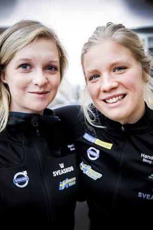 Mona Brorsson (till vänster) och Emelie Larsson.