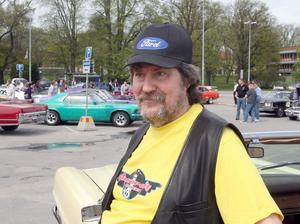 Bengt Johnsson är ordförande i Southport Cruising, arrangörsklubben till bilträffen.