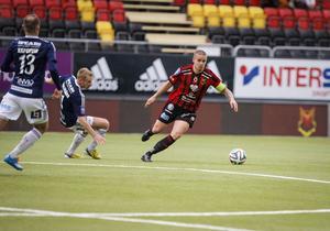 Douglas Bergqvist spelade upp sig från tidigare matcher i ÖFK-tröjan.