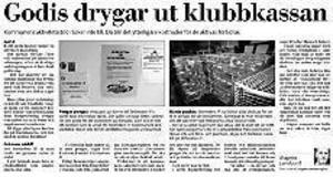 Klipp ur Gefle Dagblad den 26 november 2002
