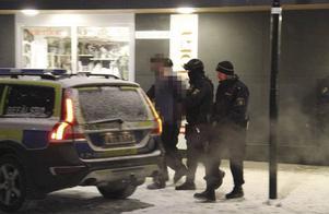 Den misstänkte mannen greps under odramatiska former på måndagen.