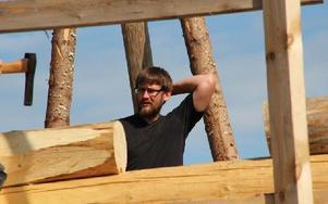 Mikael Steiner Persson från Avesta har redan fått jobb som timmerman i Borlänge. Foto: Eva Högkvist