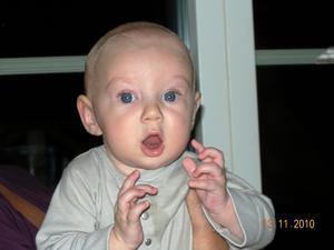 Jag är bara 5 månader men skall bli Dirigent när jag blir stor!Isac