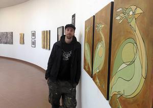 I dag hålls vernissage för Erik Lindströms utställning i Ånge.