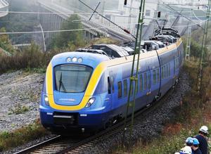 Det var på sträckan mellan Timrå och Stavreviken som mannen bråkade med tågvärden.