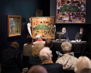 En målning av Hilding Linnqvist har sålts för långt över utropspriset på Bukowskis.