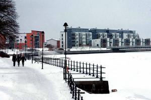 Nya Alderholmen, omdöpt till Gävle Strand i samband med byggplanerna. Bilden togs i januari 2009.
