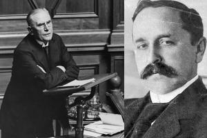 Ernst Trygger och Nils Edén, två av statsministrarna under 1920-talet. Foto: TT.