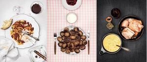 Matnostalgin frodas i några av vårens böcker. Just de här bilderna är hämtade ur Jon Rönström och Anders Ekmans bok
