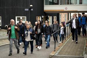 Gymnasieelever från 11 kommuner i Norrland var samlade vid Mittuniversitetet för designtävlingen Design Opens kickoff.
