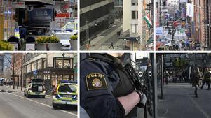 Bilder från terrorattacken i Stockholm den sjunde april 2017.
