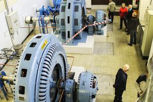 En guidad tur i Österforsens kraftstation fanns med på programmet.