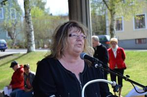 Ritha Sörling talade om den lokala politiken.