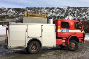 Räddningstjänsten från Funäsdalen sökte efter mannen som fastnat under sin skoter.