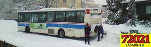 En VLT-läsare noterade att två bussar körde fast på Klockartorpsgatan under eftermiddagen.