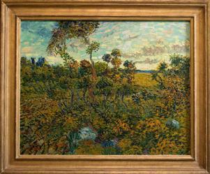 Den hittills okända målningen av Vincent van Gogh går under namnet