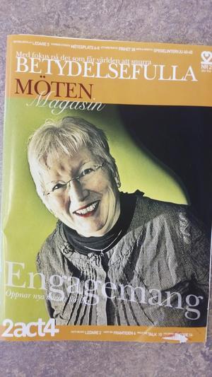 På omslaget. Anita prydde omslaget till Betydelsefulla möten magasin förra året.
