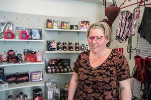 Pernilla Hedberg har haft sin butik öppen i ungefär ett år.