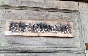Dörrskylten på Furuvallen i Böle. (Böle/Röjans IK).