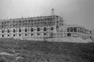 Byggnationen sommaren 1936.