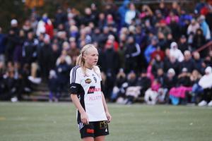Cassandra Korhonen sköt ett av BK30:s två mål i segermatchen mot Umeå.