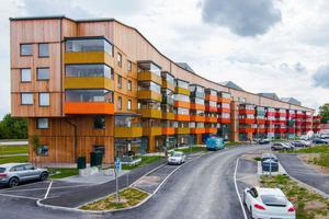 I huset på Nordanby äng bor många med låga inkomster. Orsaken till det debatterades i kommunfullmäktige.