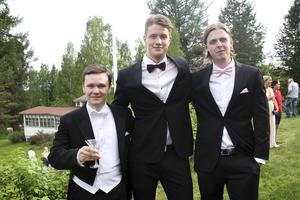Jacob Ennerstam, Charlie  Frisk och Jonas Törnqvist njöt av stunden.