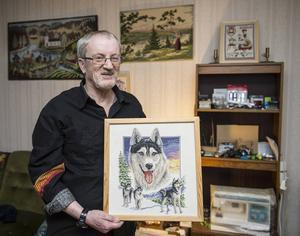 Broderi har på senare år blivit ett stort intresse. – Mitt favoritmotiv är djur och landskap, säger Tommy Söderqvist.