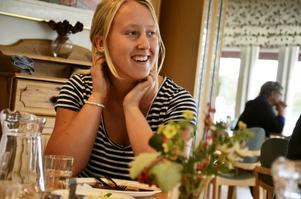 Moa Fohlin, elev på Lindeskolan, har varit engagerad i skolvalet genom demokratigruppen som hon varit med och startat.